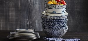 Porcelanas da marca Laura Ashley